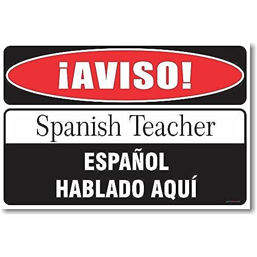 Spanish gifts amazon warning spanish teacher new humor poster negle Choice Image