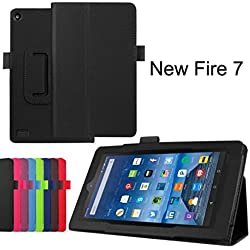 Kindle Fire HD 7, LUNIWEI Leather Stand Cover Case