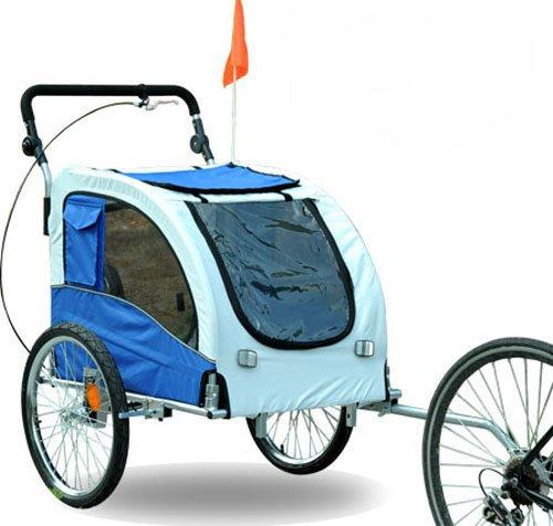 Aosom Elite II Pet Dog Bike Bicycle Trailer Stroller Jogger w/ Suspension Blue