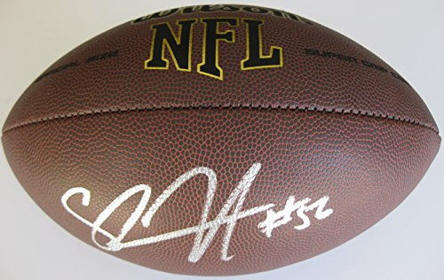Shawne Merriman, San Diego Chargers, Signed, Autographed, NFL Football, a Coa with the Proof Photo of Shawne Signing Will Be Included