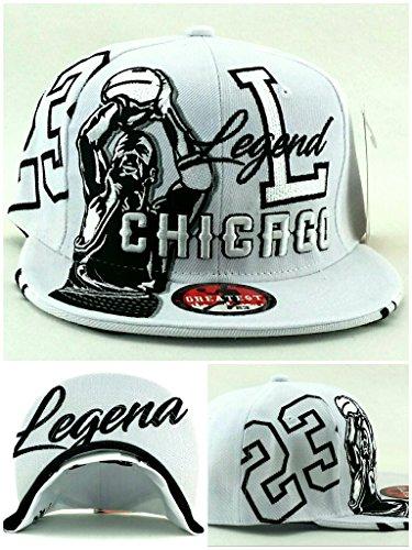 Chicago New Legend Greatest 23 MJ Jordan Bulls Alternate Colors White Black Era Snapback Hat (Michael Jordan Bulls Game)