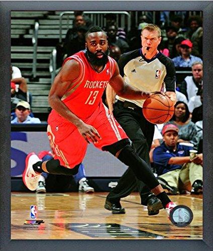 James Harden Houston Rockets 2012 – 13 NBAアクション写真(サイズ: 12 cm x 15 cm )フレーム   B01AX46NWG