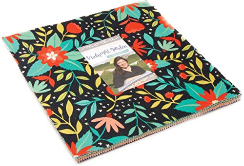 Midnight Garden Layer Cake, 42-10'' Precut Fabric Quilt Squares by One Canoe Two by MODA