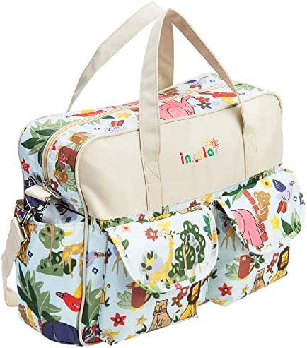New Item Jungle Animal Babies Quilted Diaper Bag