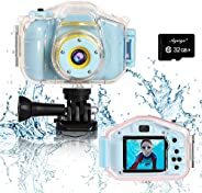 Agoigo Kids Waterproof Camera Toys for 3-12 Year Old Boys Girls Christmas Birthday Gifts HD Children's Dig