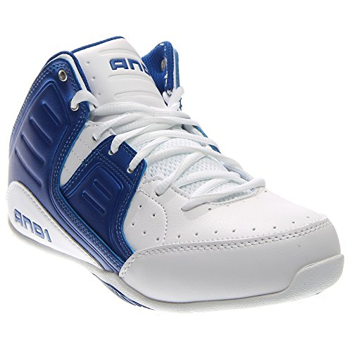 AND1 Men's Rocket 4.0 Mid Sneaker,Bright White/Royal/Bright White,US 12 M