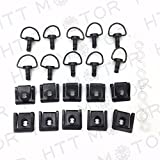 HTT- 10 Dzus Style Motorcycle Quick Release 1/4 Turn Fairing Fasteners with 15mm Pins