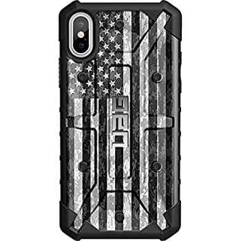 "LIMITED EDITION - Authentic UAG- Urban Armor Gear Case for Apple iPhone X (5.8"" Screen) Custom by EGO Tactical- US Subdued Flag, Reversed over Digital Camo"