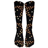 Black American Stars Flag Men & Women Athletic Socks Long Stockings Fit To SIZE 6-10