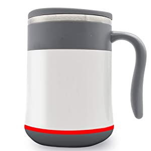 Magnetic Self Stirring Coffee Mug, Intelligent Automatic Temperature Control Waterproof Hot Energy Cup Mixing Cup, to Stir Your Coffee, Tea, Ideal for Office, Home, Travel No battery, switch and spoon