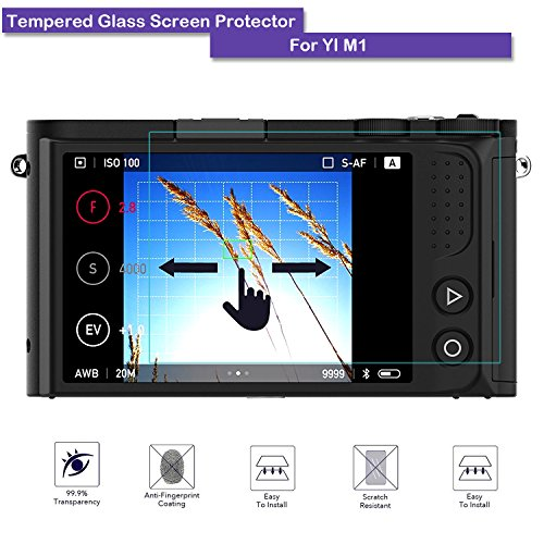 MOTONG Y1 M1 Mirrorless Digital Camera Screen Protector - MOTONG LCD Tempered Glass Screen Protector For Y1 M1 Mirrorless Digital Camera,9 H Hardness,0.3mm Thickness,Made From Real Glass.