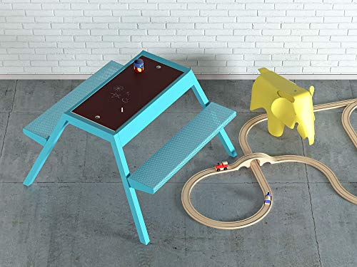 Smelis Kids Multi Purpose Picnic Table, Turquoise by Curonian (Image #3)