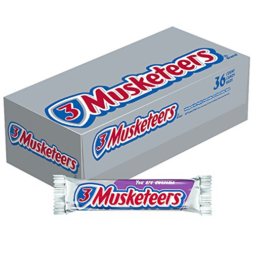 3 MUSKETEERS Chocolate Singles Size Candy Bars 1.92-Ounce Bar 36-Count - 36ct Box Bars Chocolate