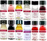 LorAnn Oils Gourmet Super Strength Fruit Flavors (No Oils) 1 Dram Variety Bundle #1 (Pack of 12)
