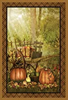 Toland Home Garden Harvest Welcome 12.5 x 18 Inch Decorative Rustic Fall Autumn Garden Flag