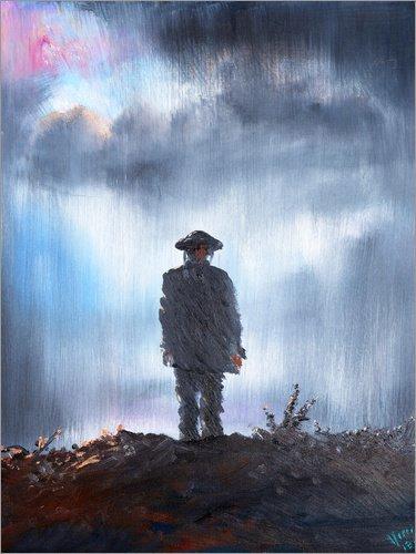 Posterlounge Acrylic print 30 x 40 cm: Unknown Soldier, first world war, 2014, oil on canvas by Vincent Alexander Booth/Bridgeman Images