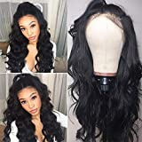 HC Hair 8A Body Wave Lace Front Wigs for Black Women 150% Denisity Peruvian Wet and Wavy Virgin Hair 13x4 Lace Wigs Pre Plucked (22inch)