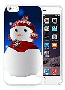 Popular Sell iPhone 6 Plus Case,Christmas snowman White iPhone 6 Plus 5.5 TPU Case 8