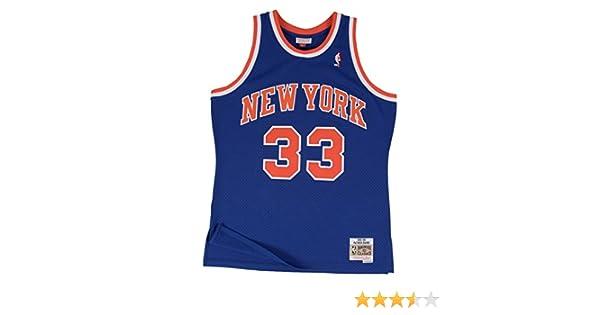 hot sales 1ac11 f5bf2 Amazon.com   Mitchell   Ness Patrick Ewing New York Knicks NBA Throwback  HWC Jersey - Blue   Clothing