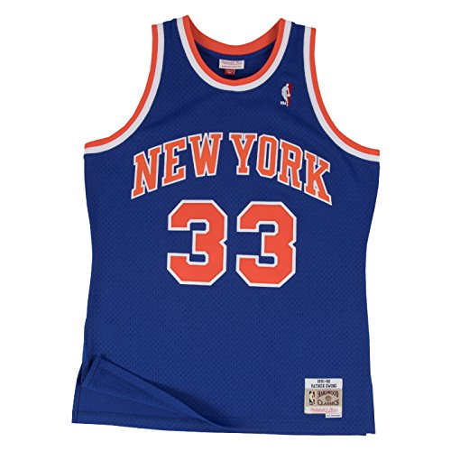 Patrick Ewing New York Knicks Mitchell & Ness NBA Throwback HWC Jersey - Blue ()