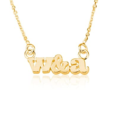 ea58821f92928 Amazon.com: Initial Necklace Personalized Initial Necklace Letter ...