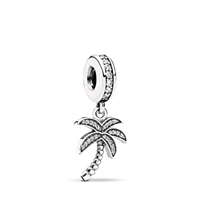 f735117d17 PANDORA Sparkling Palm Tree Dangle Charm, Sterling Silver, Cubic Zirconia,  One Size