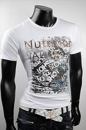 reputable site d1422 64795 Designer Herren T-Shirt Japan Style mit Aufdruck V-Neck ...