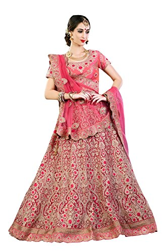 PCC Indian Women Designer Wedding pink Lehenga Choli K-4571-40057