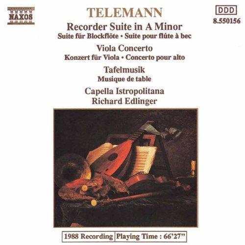 Telemann: Viola Concerto / Recorder Suite In A Minor / Tafelmusik