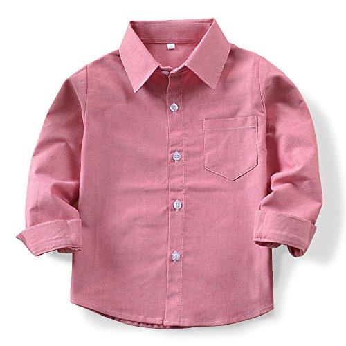 boys long sleeve button down oxford shirt