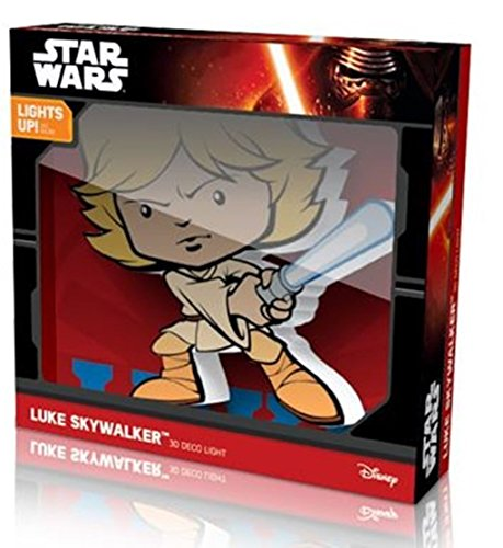 Star Wars Deco Mini 3D Cordless LED Wall Night Light Luke Skywalker