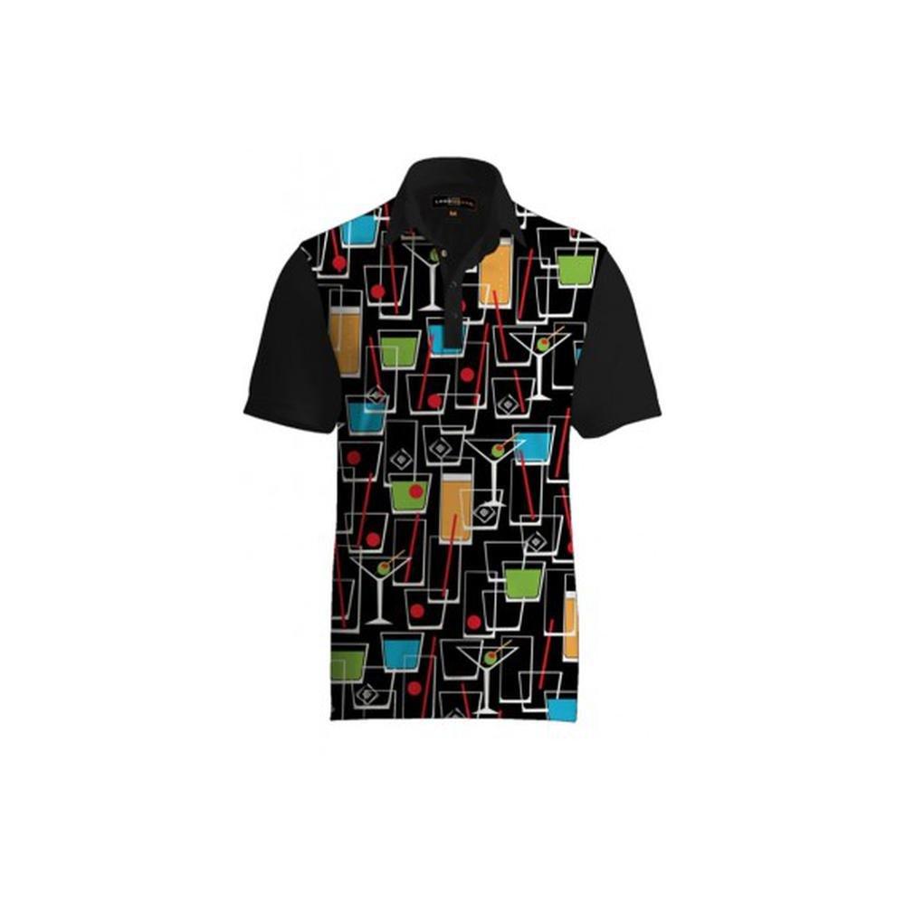 e16790054 Amazon.com  Loudmouth Golf Happy Hour Fancy Shirt L  Sports   Outdoors