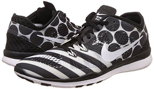 Zapatillas De Entrenamiento Nike Mujeres Free 5.0 Tr Fit 5 Prt Mujeres Us Negro / Blanco