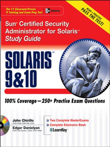 Download Sun Certified Security Administrator for Solaris 9 & 10 Study Guide (Certification Press) Pdf