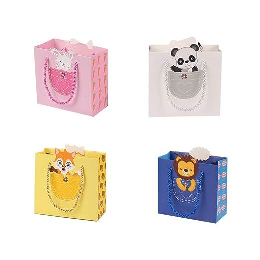 Bolsa de regalo de papel con asa, tamaño S, 4 unidades ...