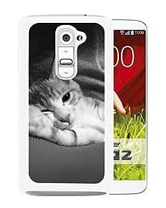 Cute Animal Cat Dark (2) Durable High Quality LG G2 Phone Case