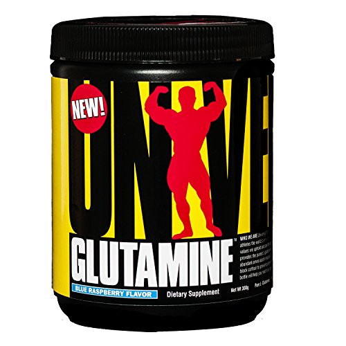 (Universal Nutrition Flavored Pure Glutamine Powder, Blue Raspberry, 300 Gram)