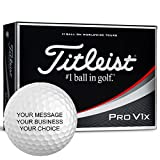 Titleist Pro V1X Personalized Golf Balls - Add Your Own Text (12 Dozen)