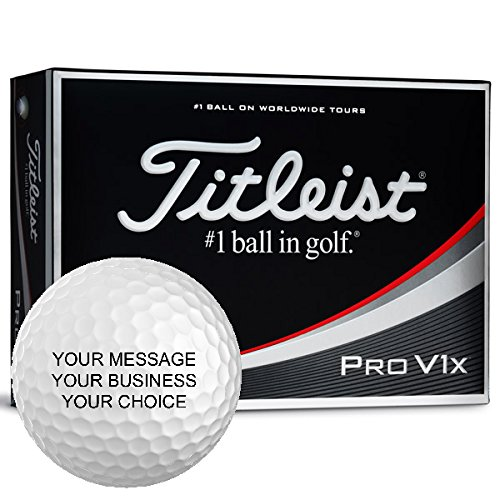 Titleist Pro V1X Personalized Golf Balls - Add Your Own Text (12 Dozen) by Titleist Custom