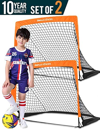 DIMPLES EXCEL Portable Soccer Goal with Fiber Glass Pole