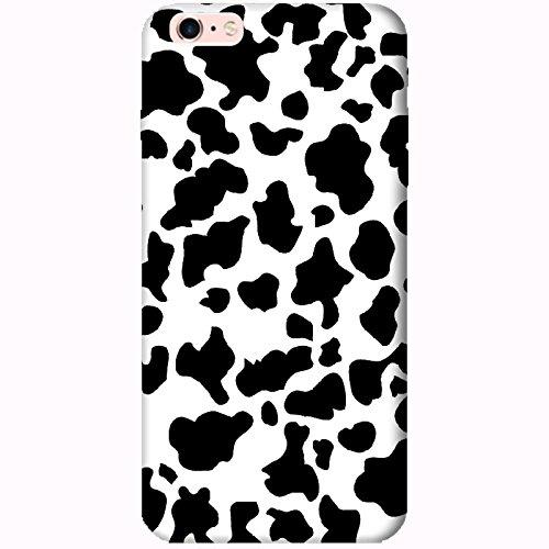 Coque Apple Iphone 6 Plus-6s Plus - Peau de vache noire et Blanche
