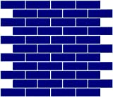 Susan Jablon Mosaics - 1x3 Inch Cobalt Blue Glass Subway Tile