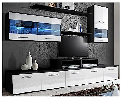 Amazon.com: domovero Kanto unidades de pared de TV estilo ...