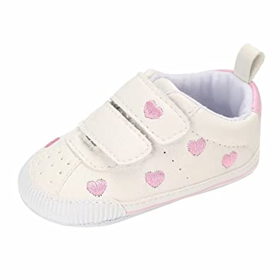 33fc23c28317 Zerototens Toddler Kids Baby Boys Girls Heart Print Shoes Cotton Sole  Breathable Soft Casual Flat Shoes
