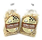 2 Packs Al Dente Pasta Carba-Nada Roasted Garlic Fettuccine 10 Ounce Bag