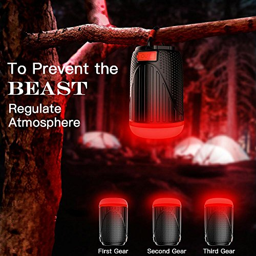 Panoraxy Camping LED Lantern Flashlight,USB Charger Tent Outdoor Light,10400mah Power Bank,500lm Lantern,1800lm Torch,Two-Color SOS,Beast Repellent Atmosphere,for Camping,Emergency,Hurricane by P Panoraxy (Image #4)