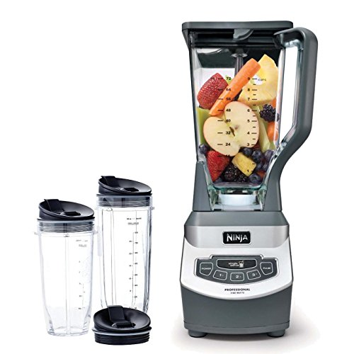 Ninja Professional Blender (BL660) with Single Serve Nutri Ninja Cup (Certified Refurbished) (Ninja Pulse Accessories compare prices)