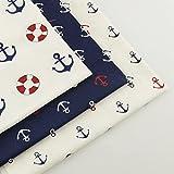 2 Trays Printer - FairyTeller 3 Piece Sea Anchor 40Cmx50Cm 100% Cotton Fabric Bedding Sewing Fabrics Tecido Home Textile Tissue Patchwork Quilting