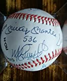500 Home Run Club Signed Stat Baseball Mickey Mantle Williams 12 PSA/DNA Auto's - Authentic MLB Autograph