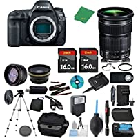 Canon EOS 5D Mark IV Camera + 24-105mm STM + 2pcs ZeeTech 16GB Memory + Case + Reader + Tripod + Starter Set + Wide Angle + Telephoto + Flash + Battery + Charger - International Version